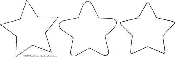 Desenhos de estrelas de 5 pontas para colorir