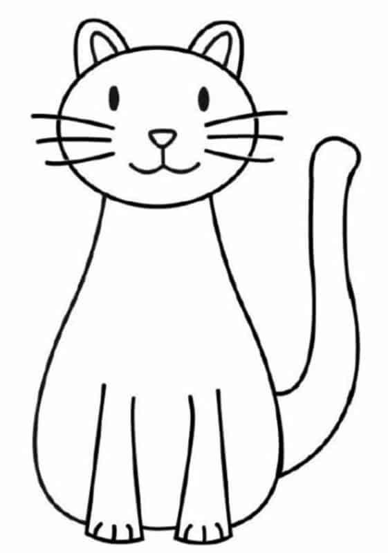 desenho de gato simples
