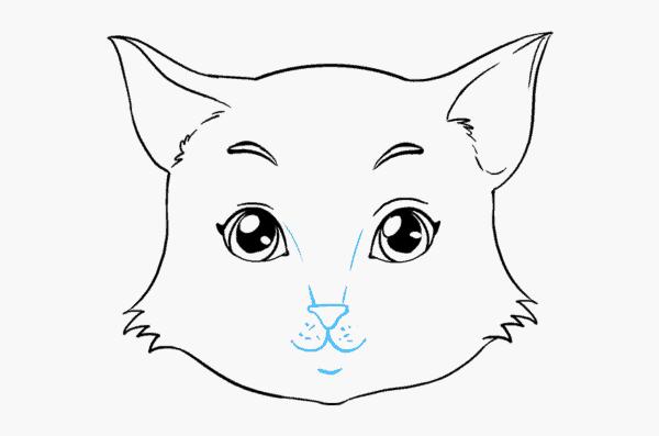 desenho simples para rosto de gato