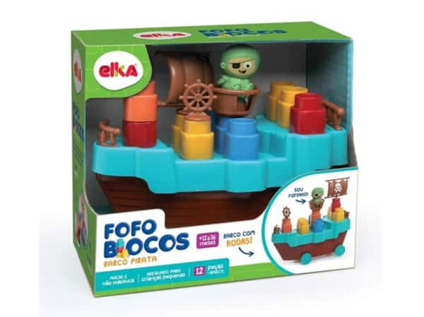Brinquedo de Montar Elka fofo blocos