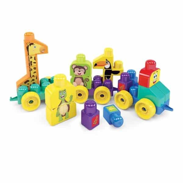 Brinquedo de Montar trem com bichinhos