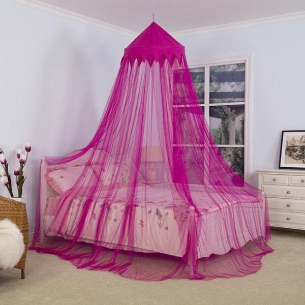 Cama com dossel pink de princesa