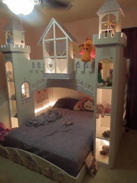 Cama lúdica de princesa