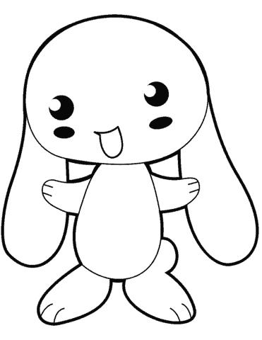 Coelhinho simples para pintar