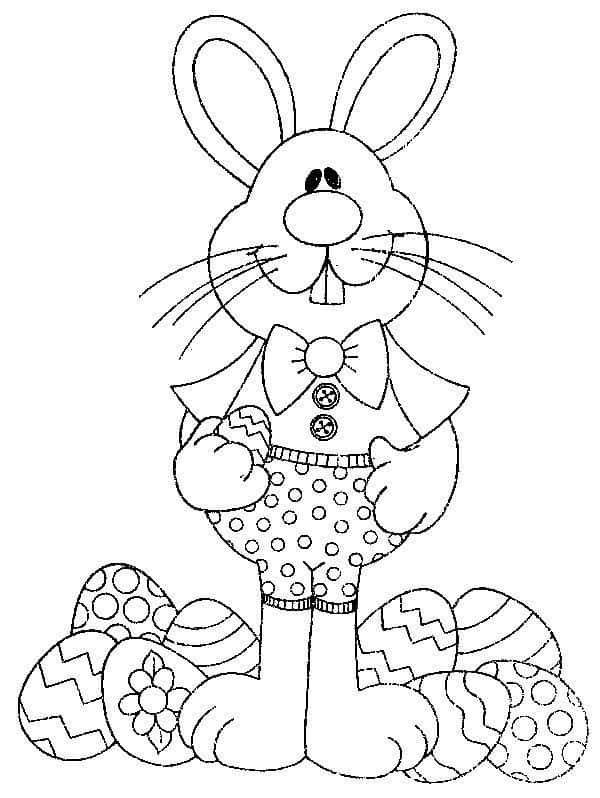 Coelho da Páscoa com ovos