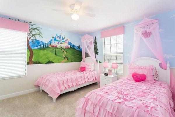 Dá para decorar o quarto com duas camas princesas