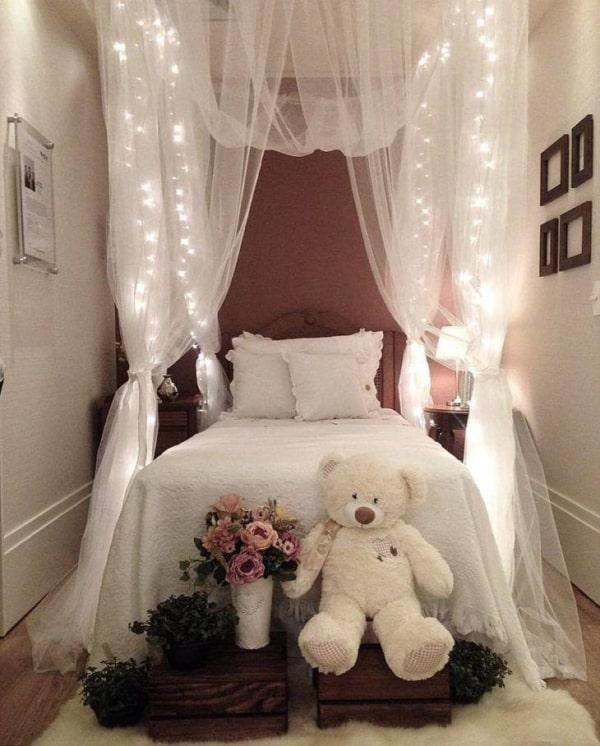 Decoração de quarto pequeno de princesa