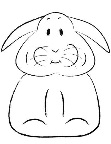 Desenho de coelho para pintar simples