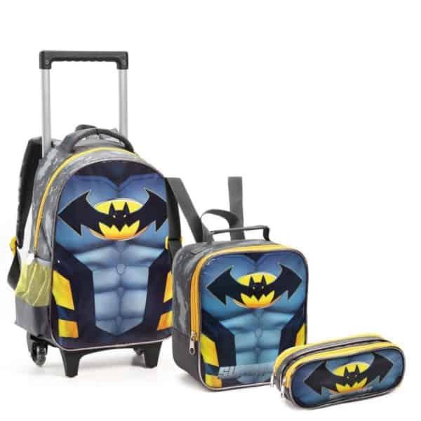 Kit Mochila e Lancheira Batman