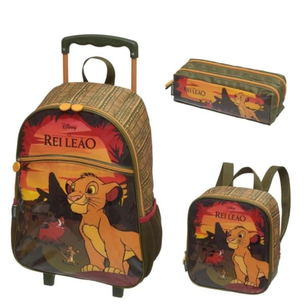 Kit Mochila e Lancheira rei leão
