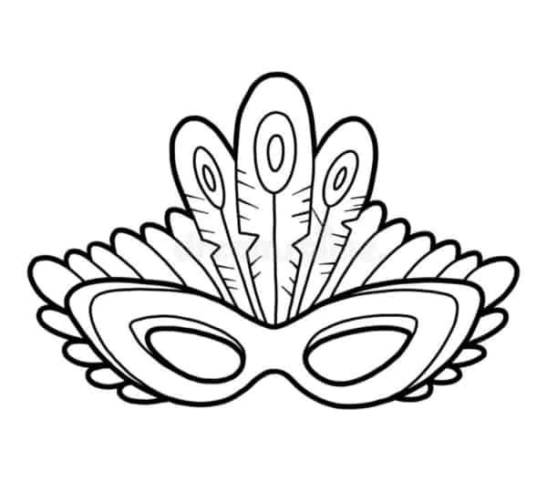 Máscara para colorir de índio58