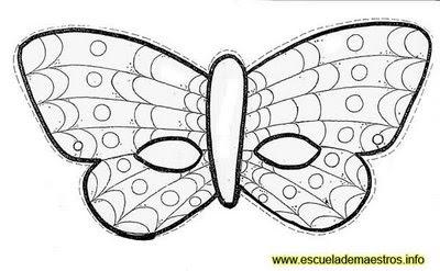 Máscara para colorir de borboleta52
