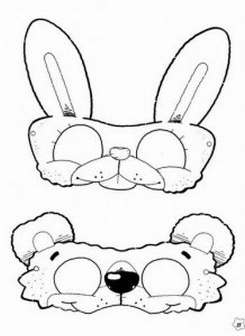 Máscara para colorir de coelhinho56