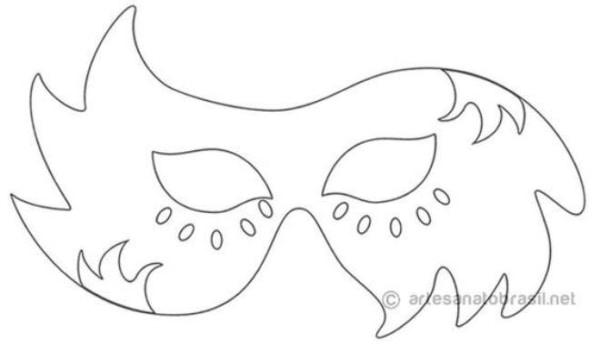 Máscara de Carnaval para colorir10