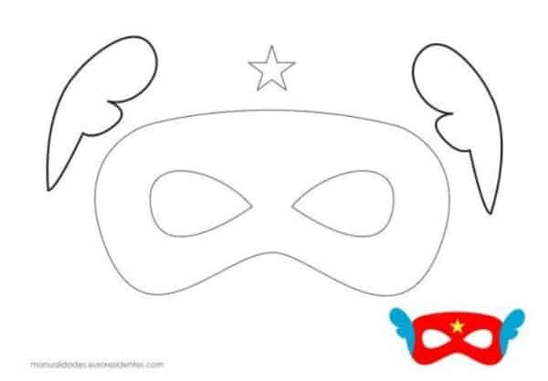Máscara carnavalesca para colorir13