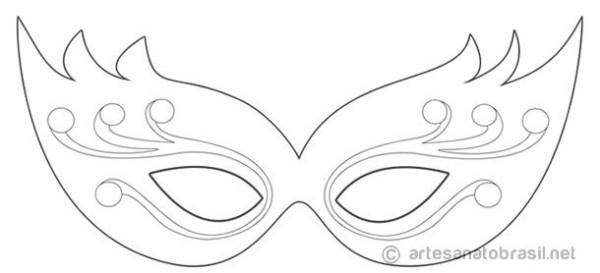 Máscara de Carnaval para colorir16