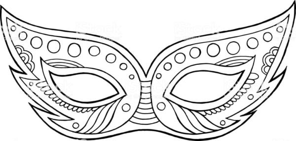 Máscara carnavalesca para colorir24