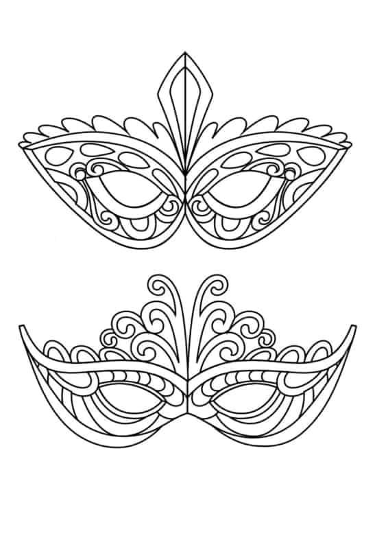 Máscara de Carnaval para colorir28
