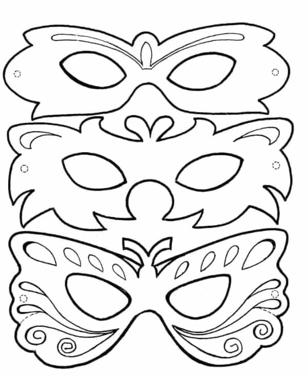 Máscara para colorir34