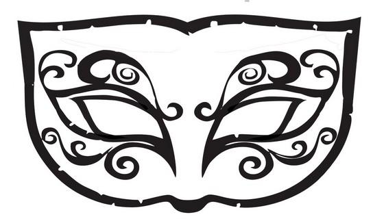 Máscara de Carnaval para colorir36