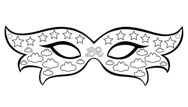 Máscara de Carnaval para colorir40