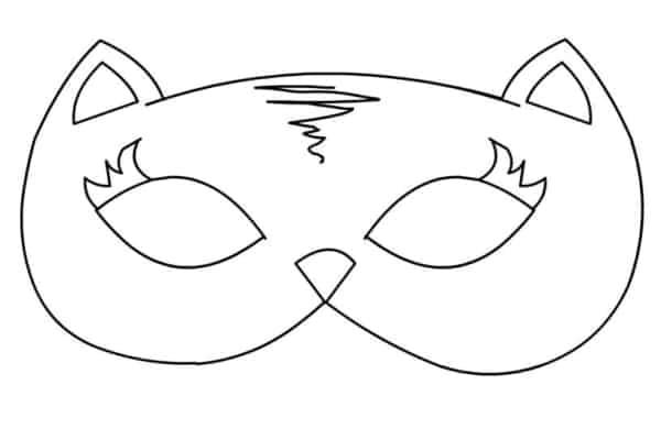 Máscara para colorir41