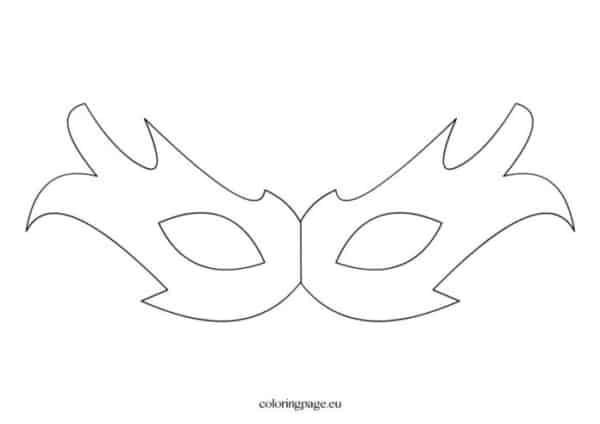 Máscara de Carnaval para colorir44