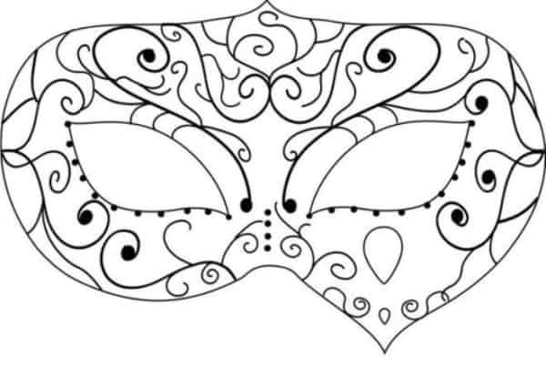 Máscara para colorir45