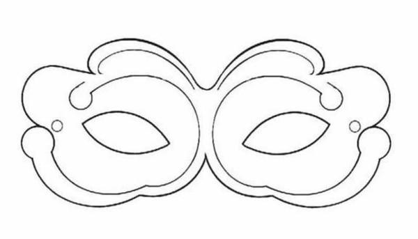Máscara de Carnaval para colorir46