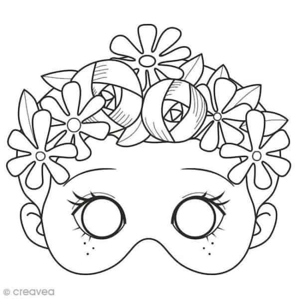 Máscara de Carnaval para colorir51
