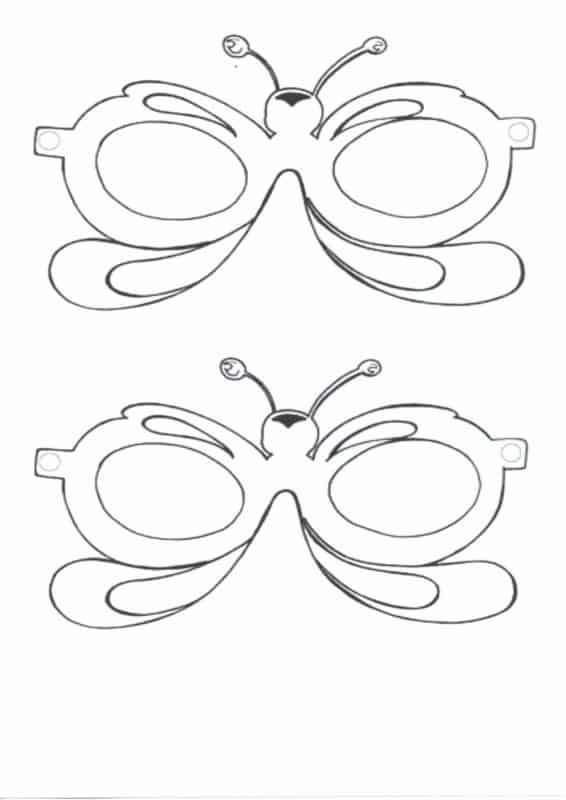 Máscara de Carnaval para colorir55
