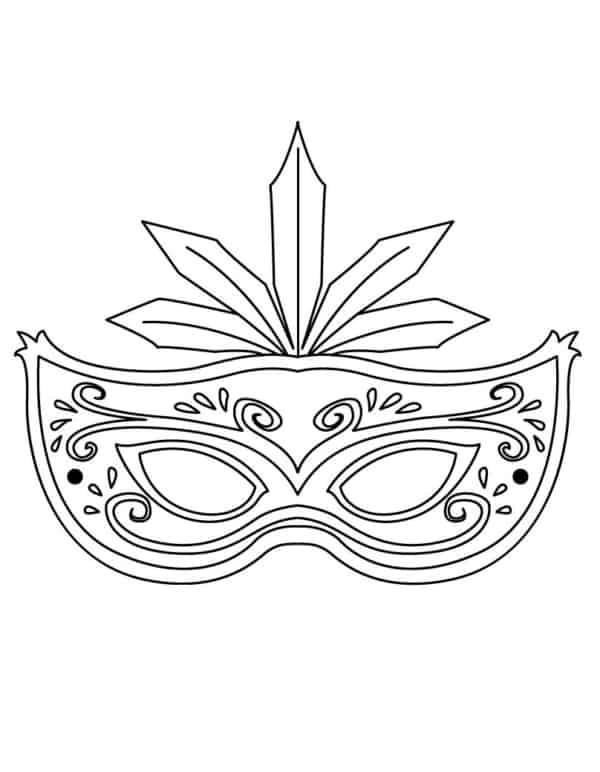Máscara de Carnaval para colorir57