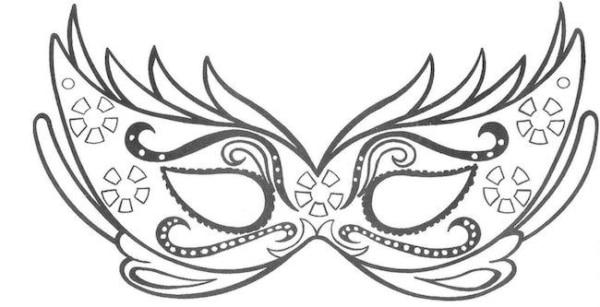 Máscara de Carnaval para colorir8