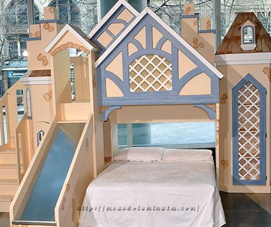 Modelo de cama castelo para quarto princesa