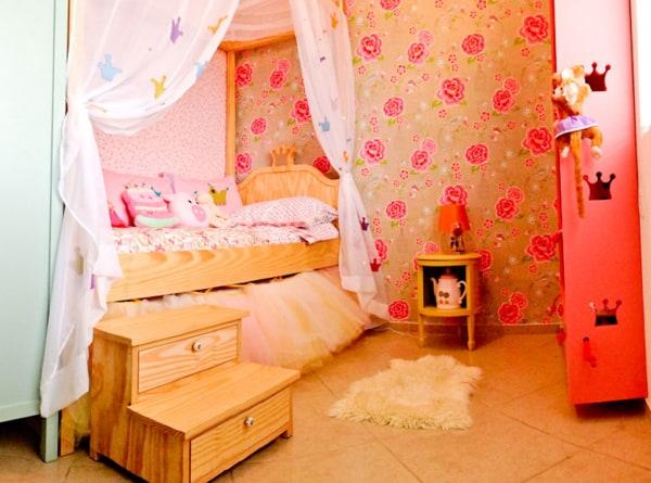 Modelo de quarto de princesa moderno