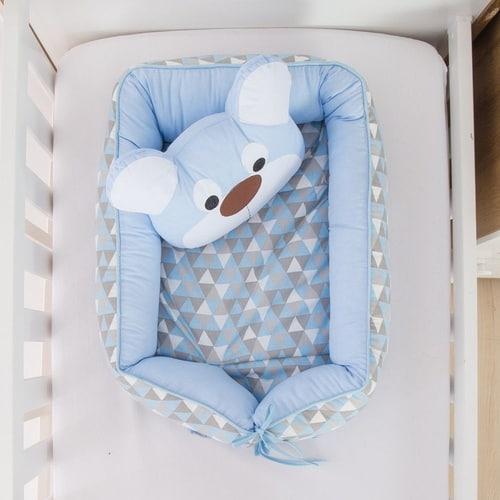 Ninho azul para bebê