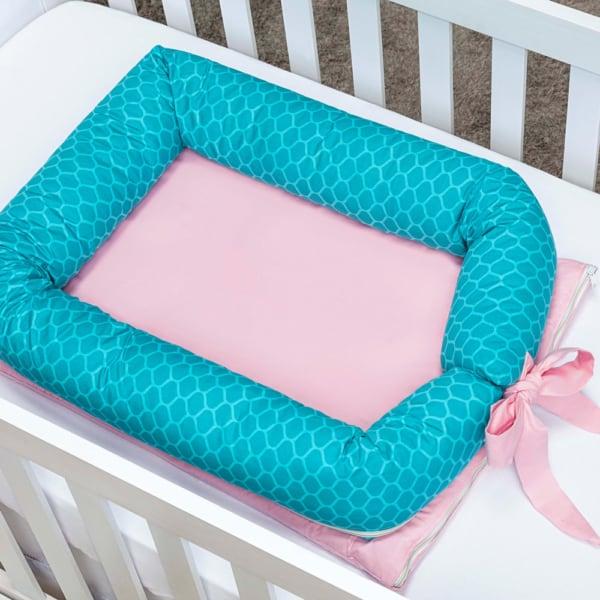 Ninho rosa e azul para bebê