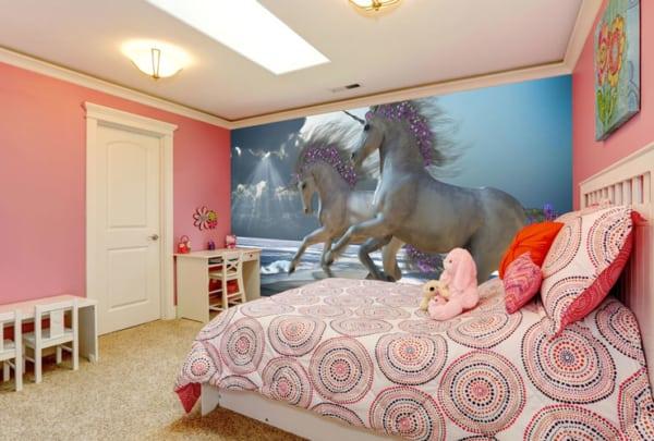 Papel de parede de unicórnio lindo para por no quarto