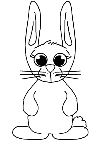 Pequeno coelho simples para pintar