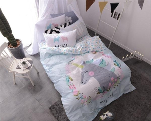 Roupa de cama de unicórnio