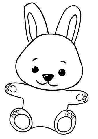 coelho bonito simples para colorir
