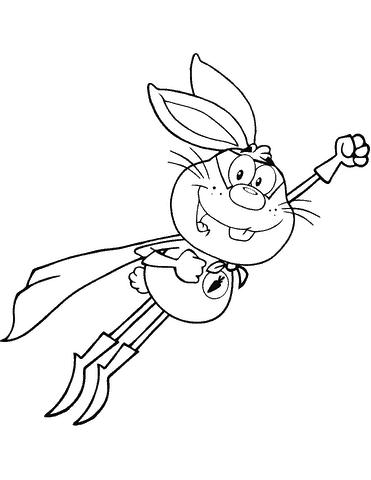 coelho heroi simples para pintar