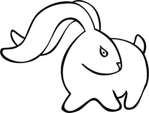 desenho coelho simples