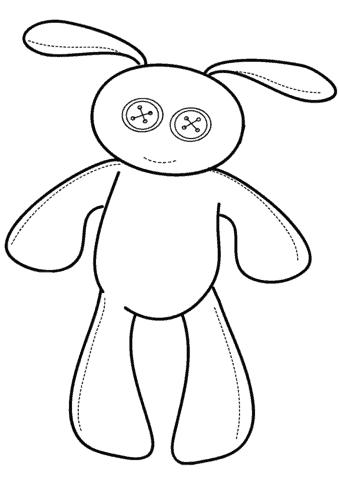 desenho de coelho simples