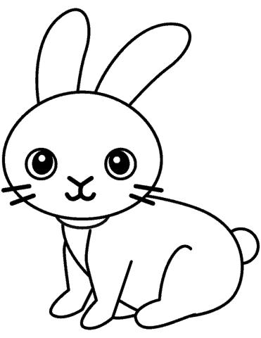 desenho para colorir coelho simples