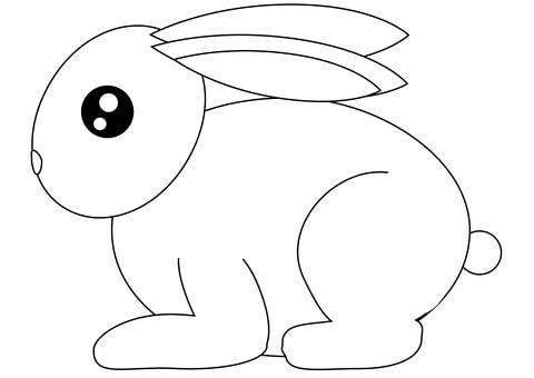 desenho simples de coelho para pintar
