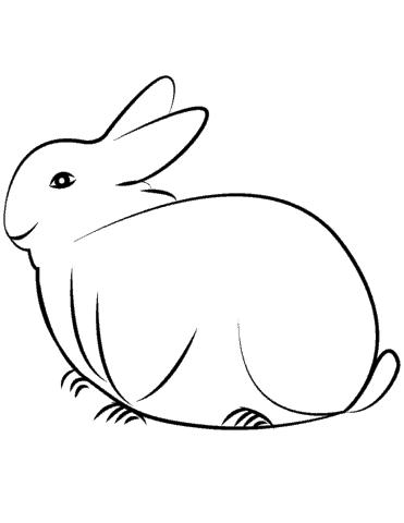 desenho simples e minimalista de coelho