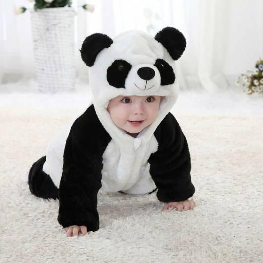 macacão de bichinho panda