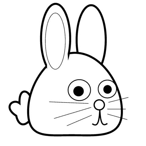 rosto de coelho simples para pintar