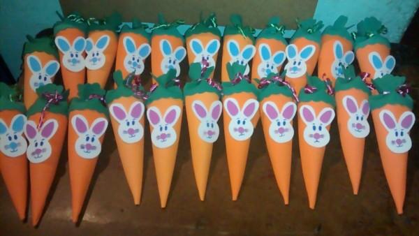 Cenourinhas de papel para dar de lembrança na escola